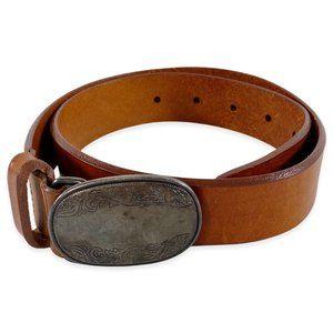 Vintage Eddie Bauer Tooled Leather Belt